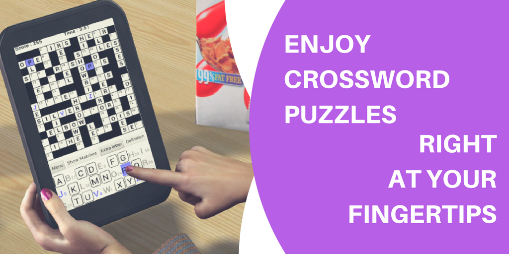 ENJOY CROSSWORD PUZZLES RIGHT AT YOUR FINGERTIPS