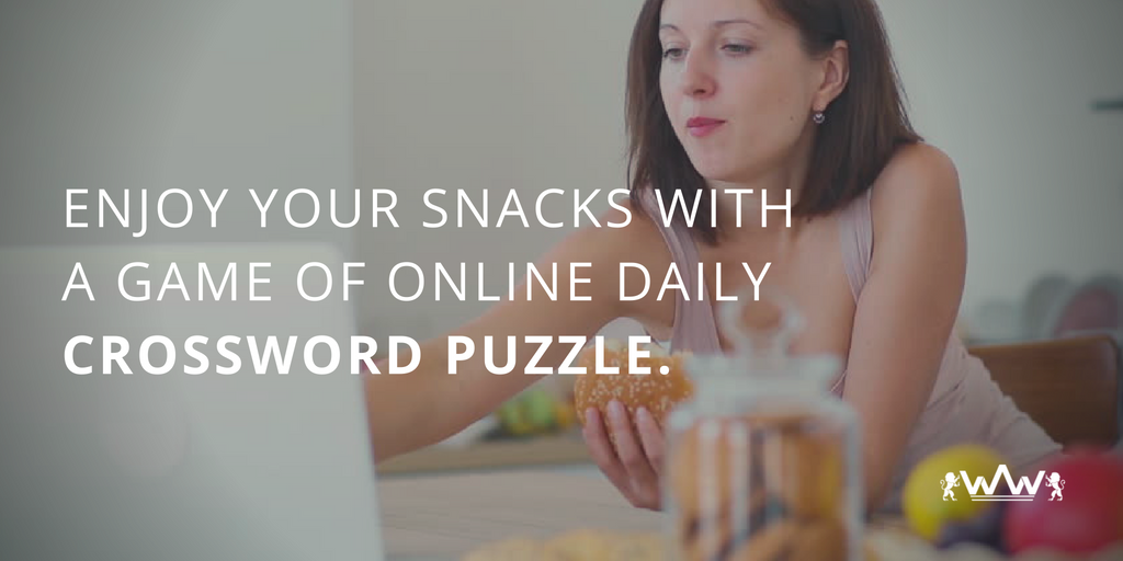 Enjoy your Snacks with a Game of Online Daily Crossword Puzzle.
